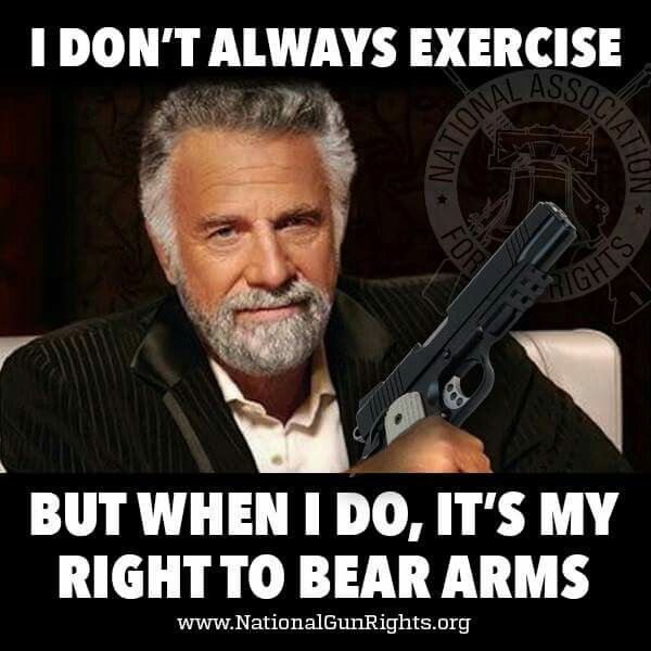 This is too real not to be real Right to bear arms
