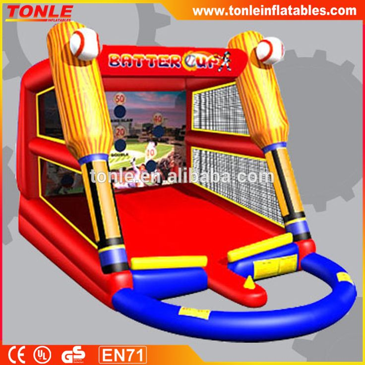 baseball themed Inflatable T-ball game for sale/ inflatable carnival games #baseball, #theme