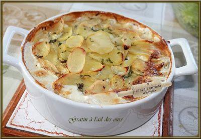 LA TABLE LORRAINE D'AMELIE: Ail des ours - Pesto et  Gratin de pommes de terre...