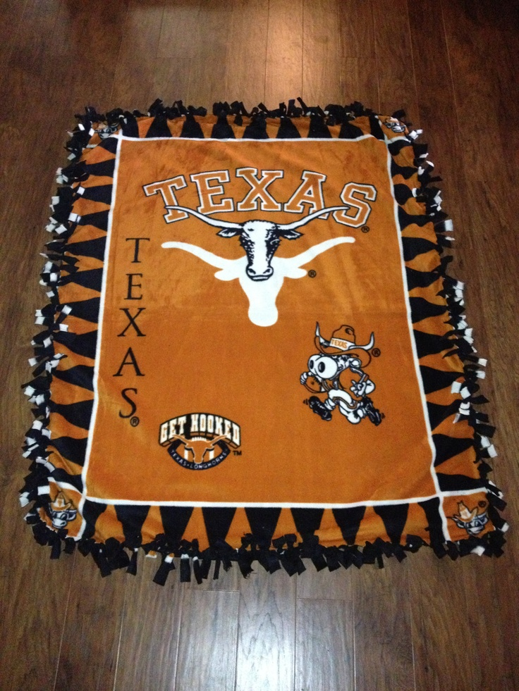 UT Longhorns Fleece Blanket by RanchLaneDesign on Etsy, $40.00