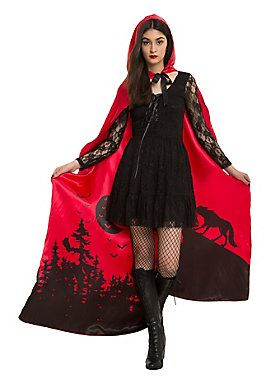 Taking Little Red Riding Hood to a new level // Red Riding Hood Cape