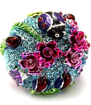 Ladybird's Garden Ring Turquoise