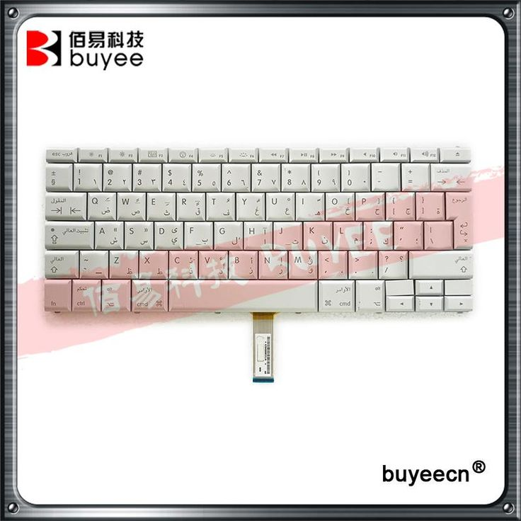 "White A1260 A1226 A1211 Arabic AR Language Keyboard 15.4"" For Macbook Pro Arabia Keyboards Original Replacement"