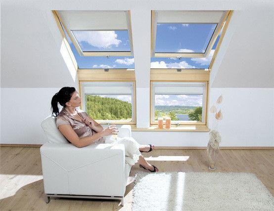 Fakro L Kombinasyon Çatı Penceresi : Pencere Dekorasyonu Fakro Pivot Çatı Pencereleri