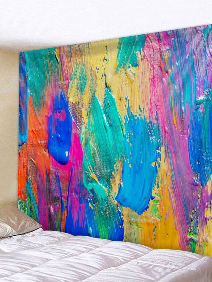 Colorful Paint Print Waterproof Tapestry Wall Art Tapestry Wall Art Wall Tapestry Hanging Art