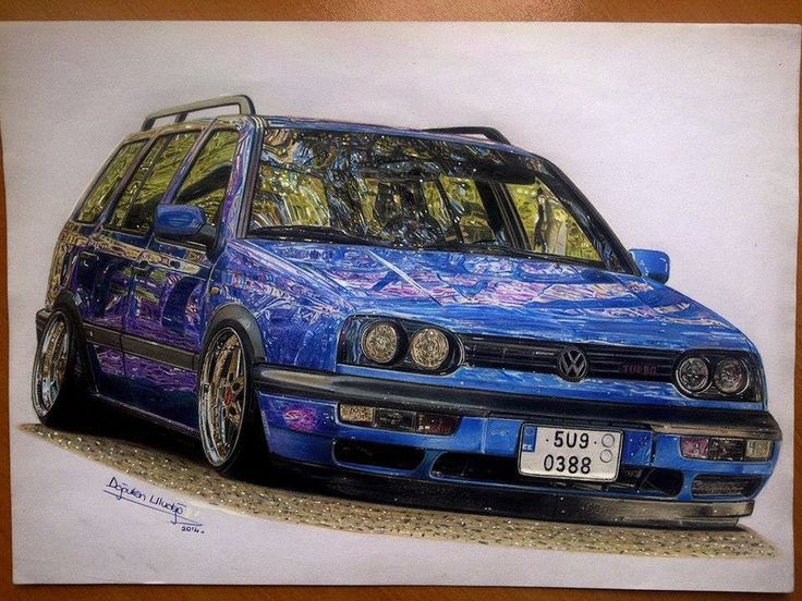 Drawings of Ultra Shiny Automobiles