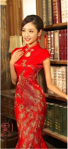 Amazing Chinese wedding dress QiPao Kwa Cheongsam latest fashion Custom Make Avail