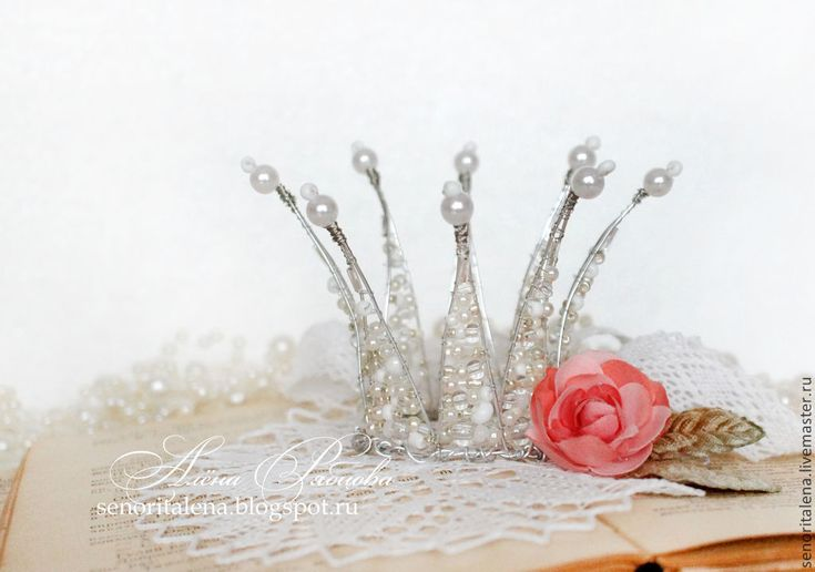 """Купить Корона """"Хрусталь"""" - белый, серебро, нежность, сияющий, роскошь, стильный аксессуар, для фотосессий, принцесса"""