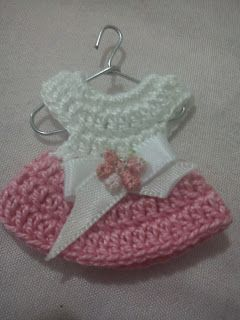 Solo esquemas y diseños de crochet: VESTIDITOS MINIATURAS PASO A PASO...POR FIN!!