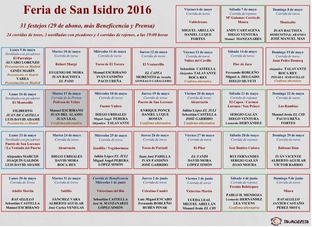 Bullfighting tickets. Tickets for bullfights in Madrid and Sevilla: San Isidro Festival 2016 Schedule
