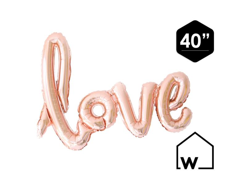 LIEFDE 40 Rose Gold/roze folie Mylar Script door WestSideApartment