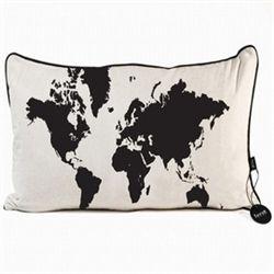 Ferm Living World Map Pillow