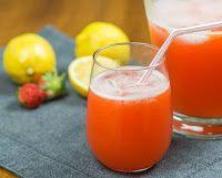 Cantinho Vegetariano: Limonada com Morango (vegana)
