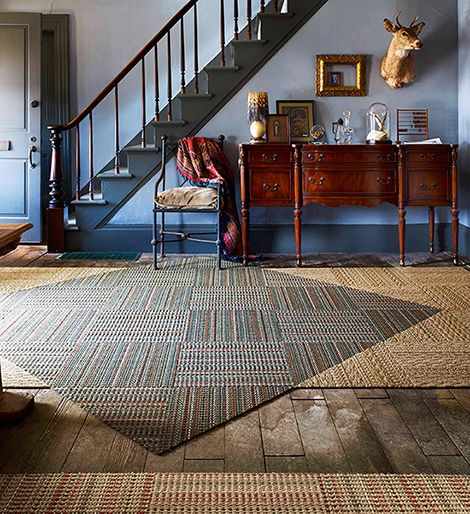 from Flor- modular rugs laid ingeniously.
