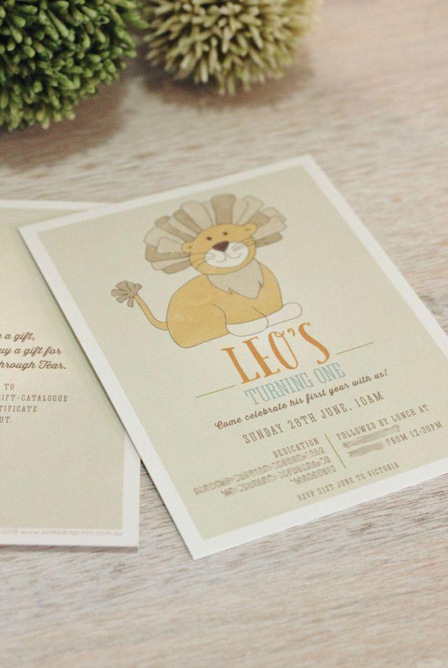 Polkadot Prints: LEO THE LION BOY BIRTHDAY INVITATION