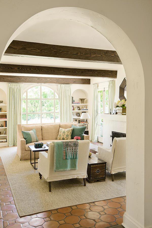 Marvelous Terracotta Floor Tile Living Room