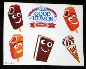 Good Humor Ice Cream Bars Stickers & Temporary Tattoos Lot 90th Anniversary $16