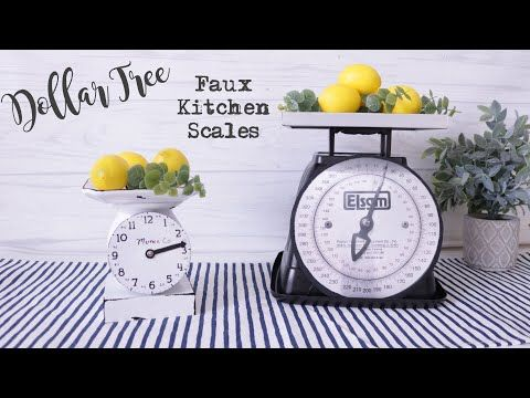 Dollar Tree DIY FARMHOUSE SCALE | Farmhouse Kitche…