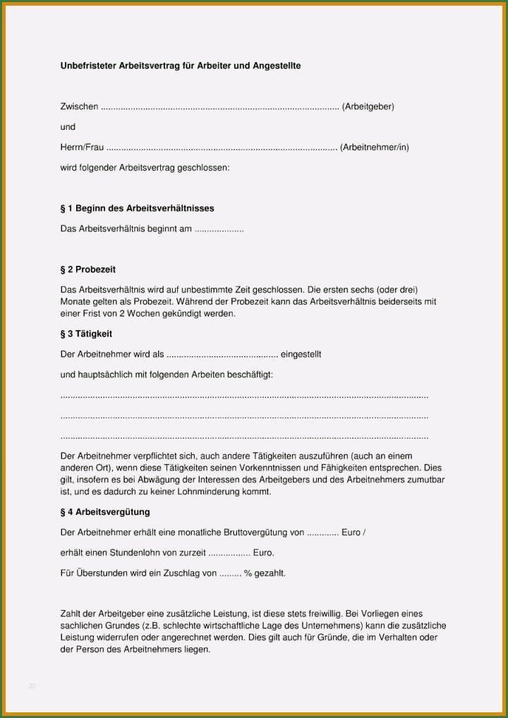 17 Phanomenal Arbeitsvertrag Vollzeit Vorlage In 2020 In 2020 Arbeitsvertrag Muster Briefkopf Vorlage Vorlagen