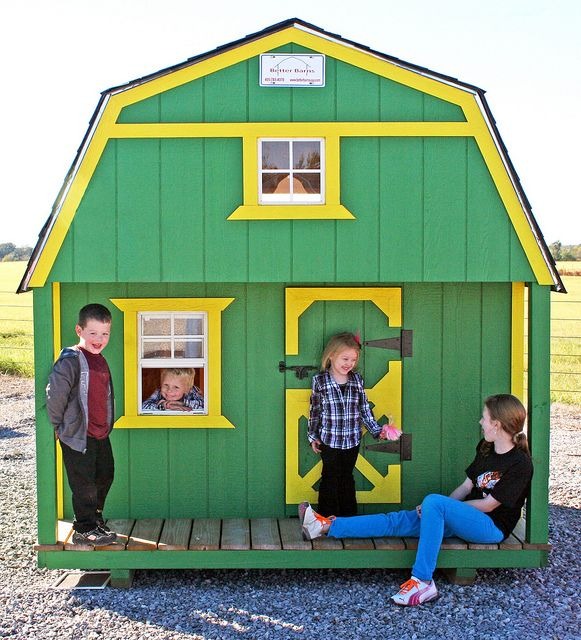 John Deere Tractor Child's Barn by Better Barns, via Flickr the kids would love this!!