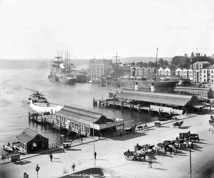 Circular Quay, Sydney, Australia, c. 1892. Fred Hardie, photographer.