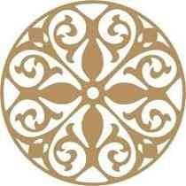 Quadro Mandala Escultura Parede Mdf Sem Pintura 70x70cm #15
