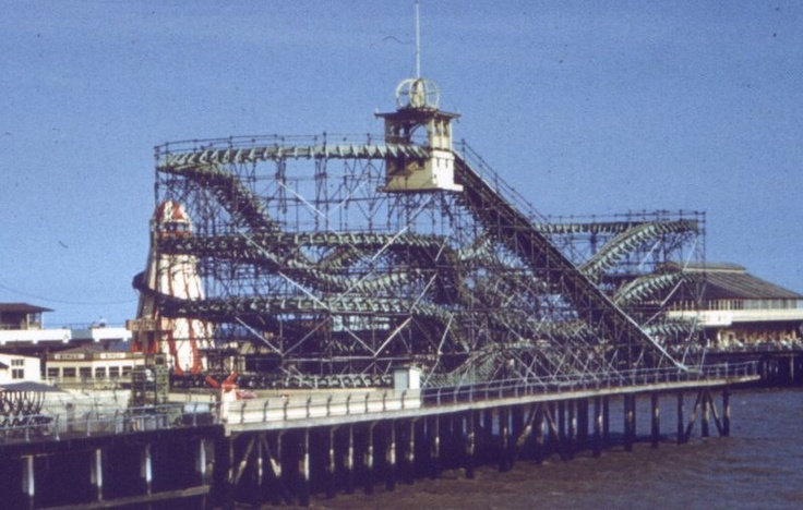 Steel stella the old roller coaster on Clacton Pier in the 60's