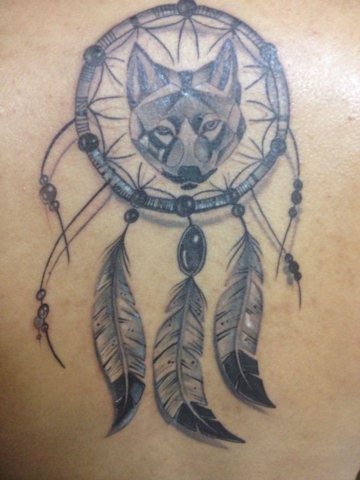 Atrapasueños con lobo - #tattoo - #tatuaje - #DREAMCATCHER - #wolf