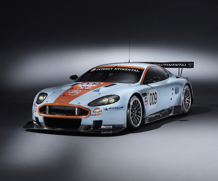 Aston Martin DBR9 in Gulf Racing colors.