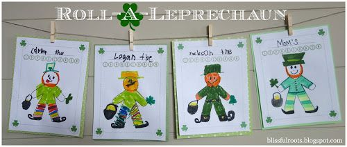 Or so she says…:Roll-A-Leprechaun Game ~ Fun St. Patrick's Day Activity! (she: Brooke) - Or so she says...