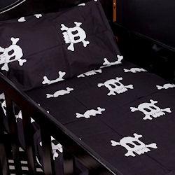 Metallic Cowboy - Boy Skull- Baby Cot Sheet Sets