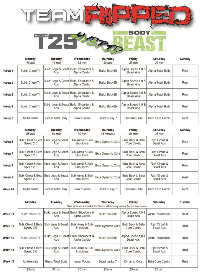 Body Beast Hybrids! You've asked for them! Body Beast Hybrids with Focus T25 and P90X3. These Body Beast Hybrids will get you RIPPED!