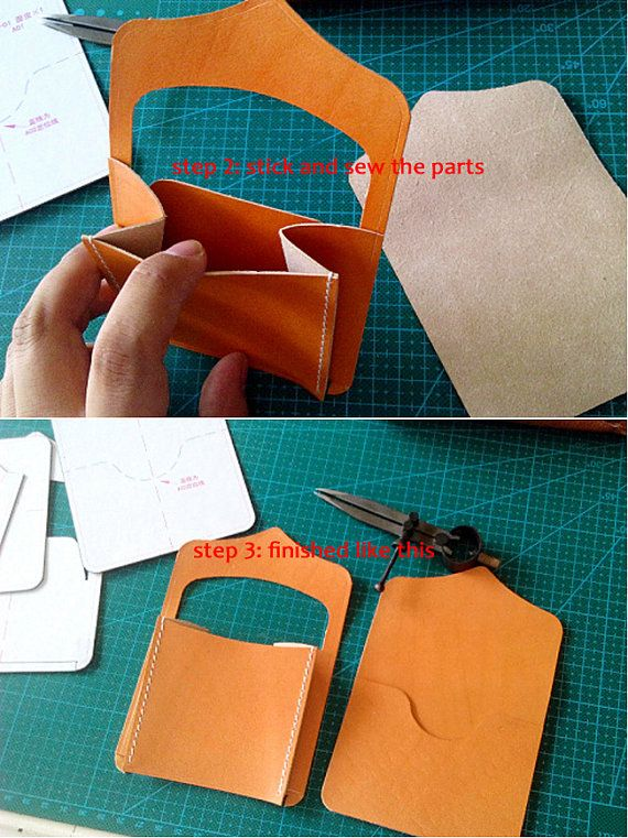 tutorial for change purse MXS Not for sell leather by LZpattern