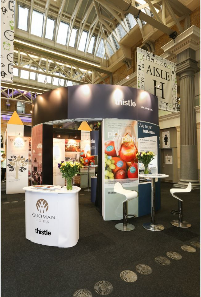 Exhibition Stand For Guoman Thistle Hotels At Square Meal Events 2017 Old Billingsgate
