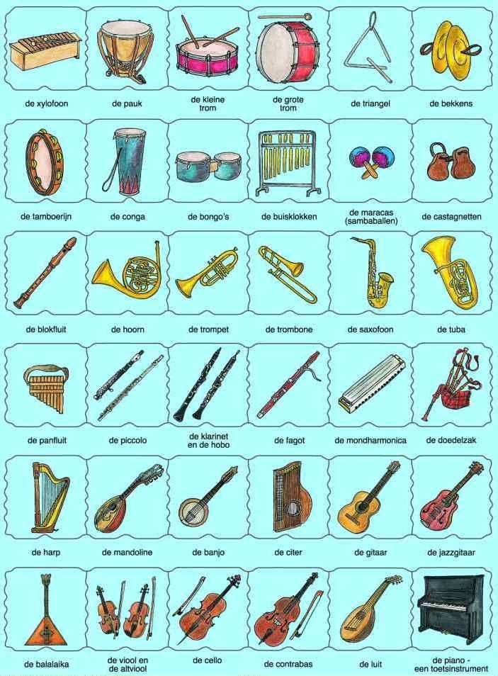 Affiche instrumenten