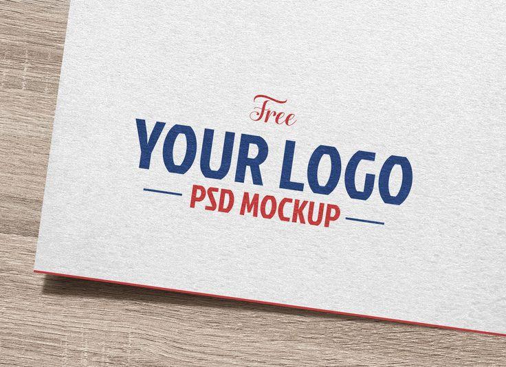 Free Natural White Paper Logo Mockup Freebies Fribly Logo Mockup Paper Logo Logo Psd