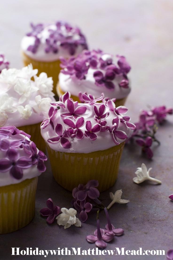 lilac cupcakes
