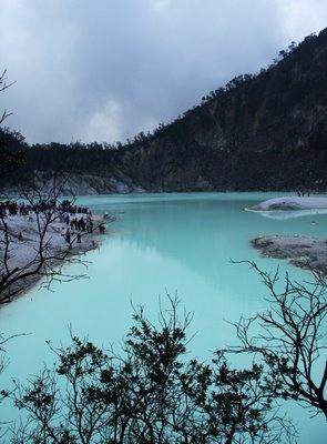 Kawah Putih (white crater), Ciwidey, Bandung, West Java, Indonesia