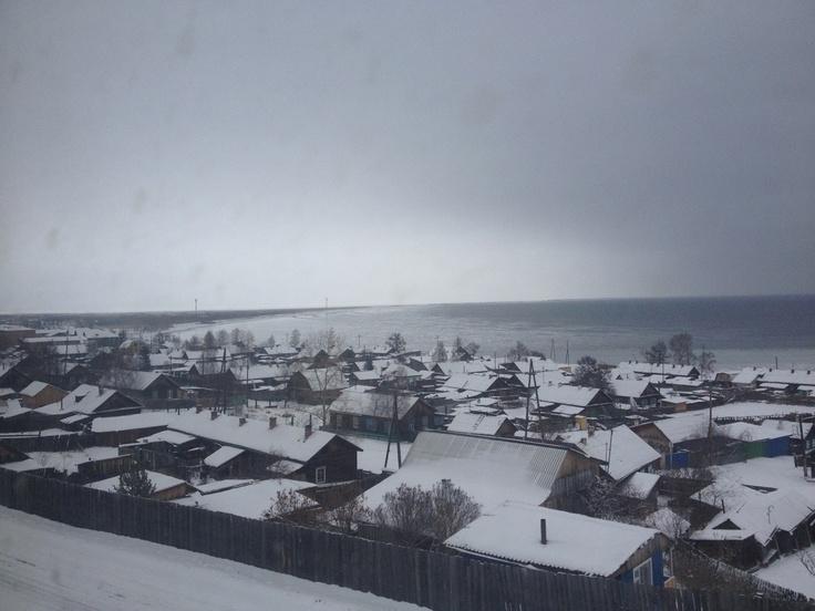 Nizhneangarsk aan het Noorden van het Baikalmeer