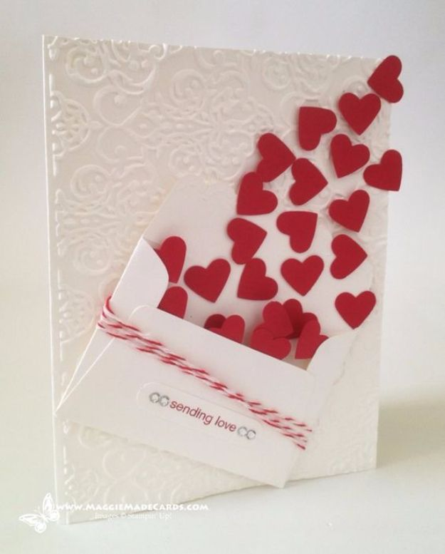 25 best ideas about Homemade valentine cards – Easy Handmade Valentine Cards
