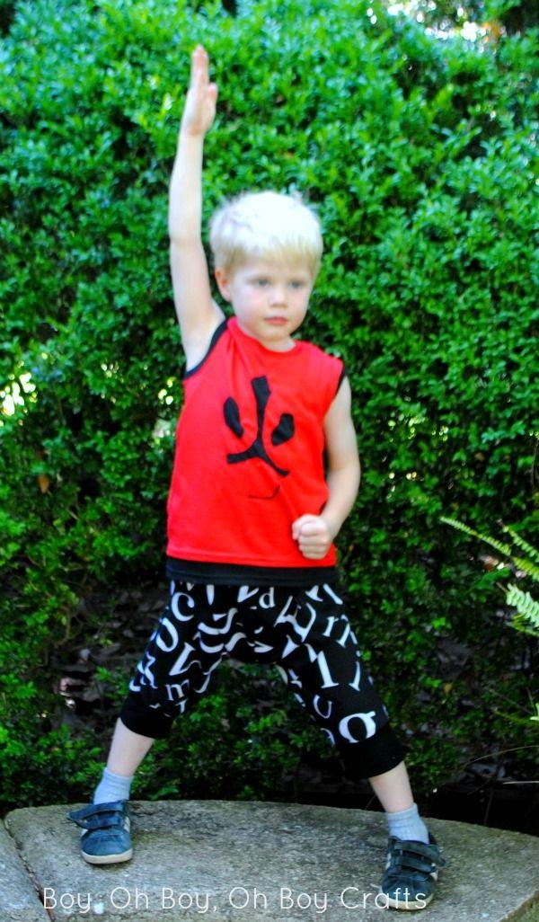 Boy, Oh Boy, Oh Boy Crafts: Reverse Applique Power Ranger Shirt (Free Template)
