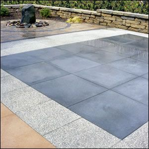 Diamond Lake Slabs with exposed granite are a step up from aggregate concrete