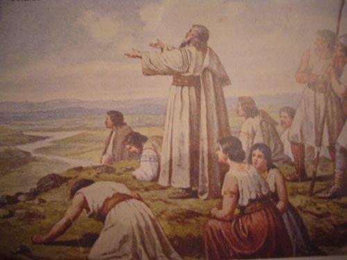 Obr. 3 Obraz Mikoláše Alše- Příchod Čechův na Říp/ pokud je Vám obraz povědomý, tak jste zřejmě z Náchoda, protože obraz je namalovaný na op...