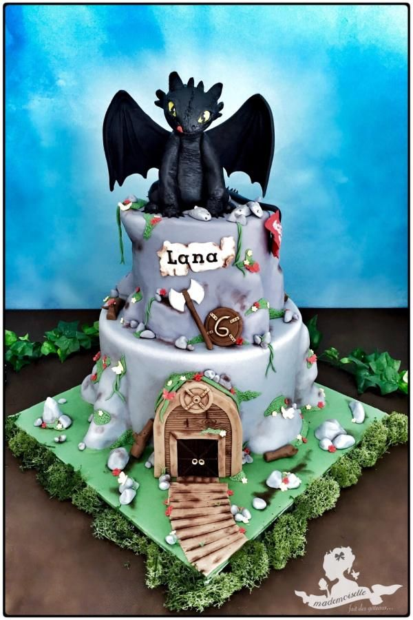 How To Train Your Dragon Cake Design