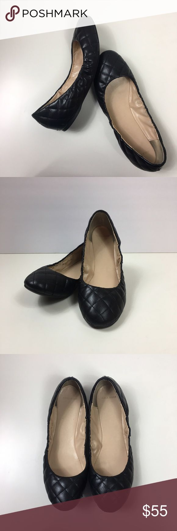 Quilted Cole Haan Black Leather Flats Very lightly worn! Every girl needs a few solid black leather flats that match everything. Quilted. No trades Cole Haan Shoes Flats & Loafers