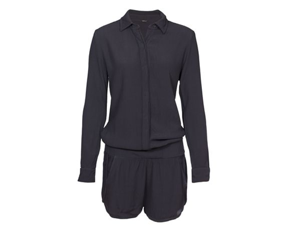 MONROW - Women's long sleeve romper. Made in the USA.