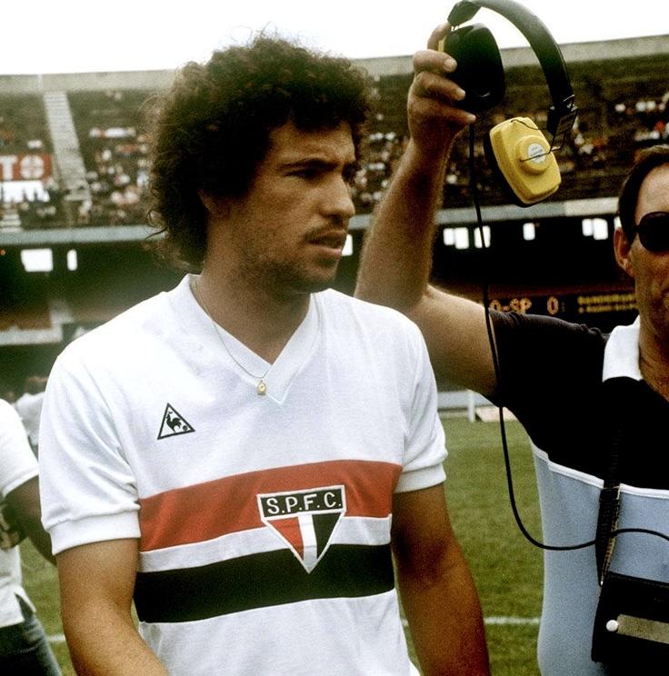 Careca, muitos gols pelo São Paulo FC. Foto de 1983.