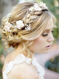Свадебные прически с плетением  6