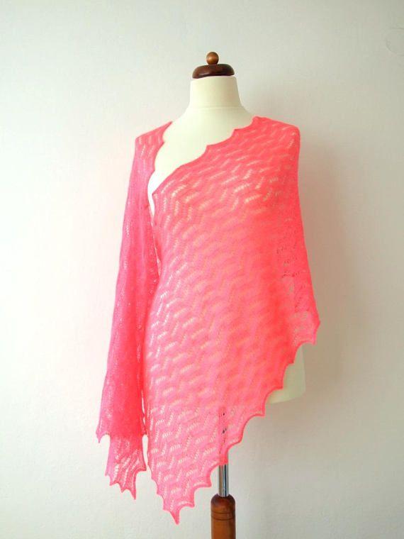 pink lace shawl pink bridal shawl luxury knit wrap handmade #fashion #shopping #etsy #handknit #shawl #blackfriday #bridal #wedding #luxury