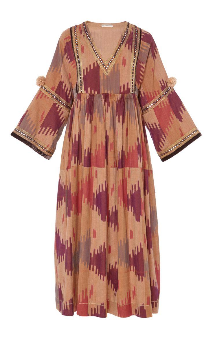 Sibi Handloom Embroidered Ikat Dress by ULLA JOHNSON for Preorder on Moda Operandi